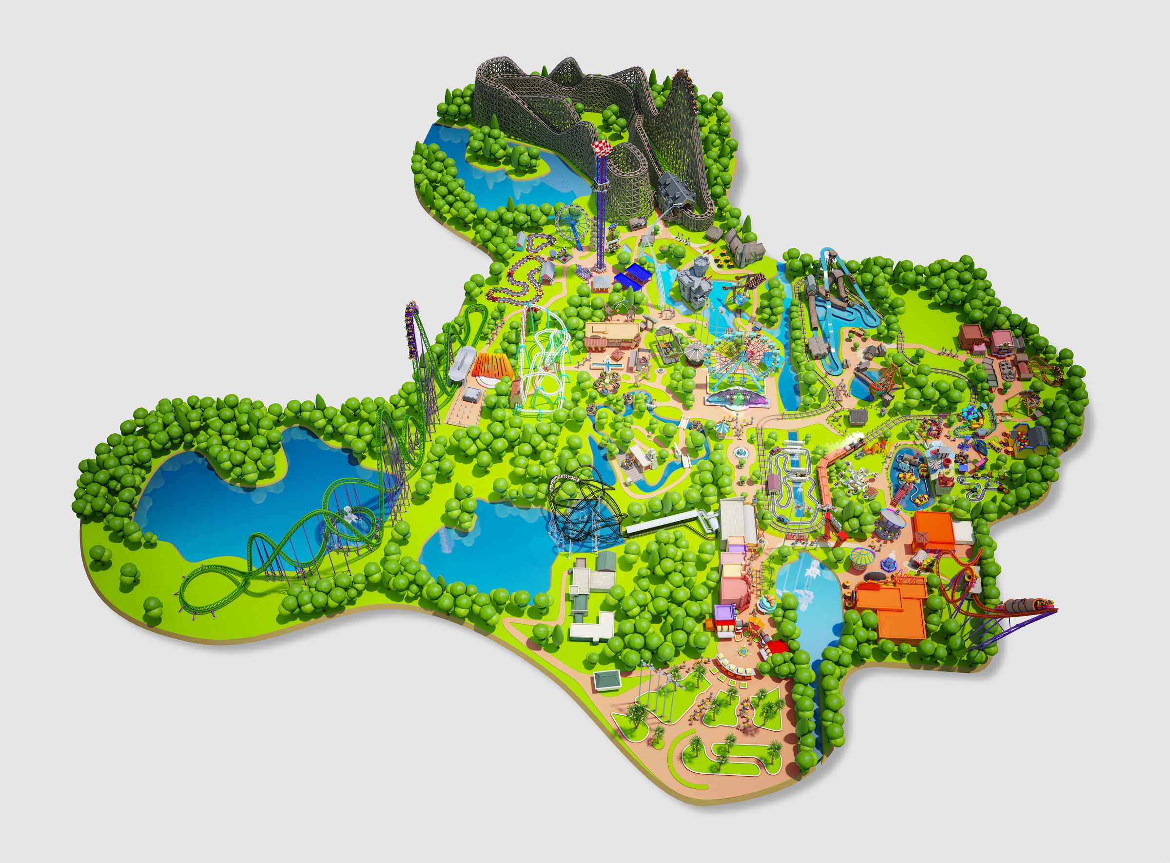 Parkmap3d walibi world holland theme park gumiabroncs